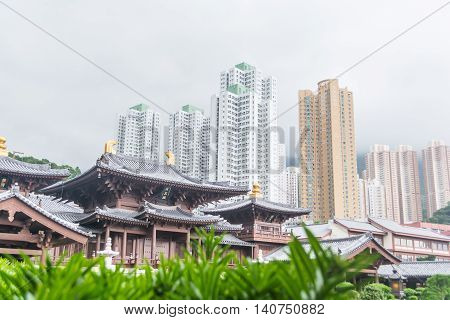 Chin Lin nunnery is a famous Buddhism templein Hong Kong.