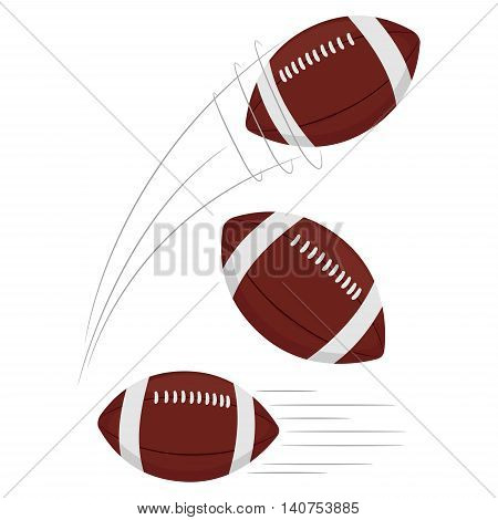 Vector Illustration of Set of Football being thrown