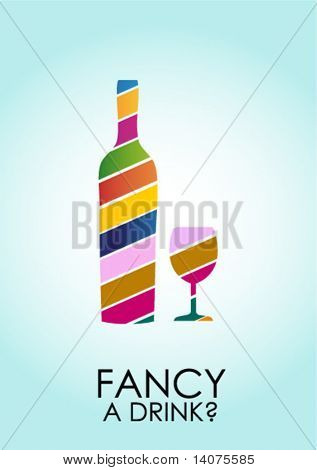 creative wine drink poster