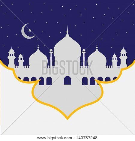 Mosque dome, color interpretation of Islamic motifs