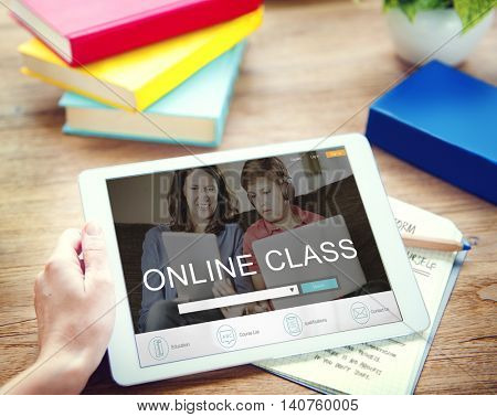 E-learning Online Study Learning Website Concept