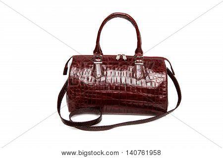 Fashionable Crocodile Leather Handbag