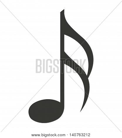 note music silhouette icon vector illustration design