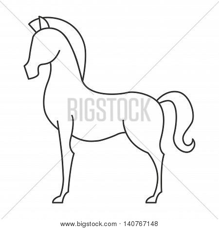horse animal equine icon vector illustration design