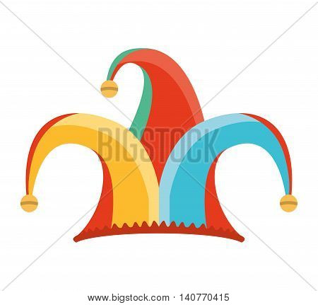 hat fool jester icon vector illustration design
