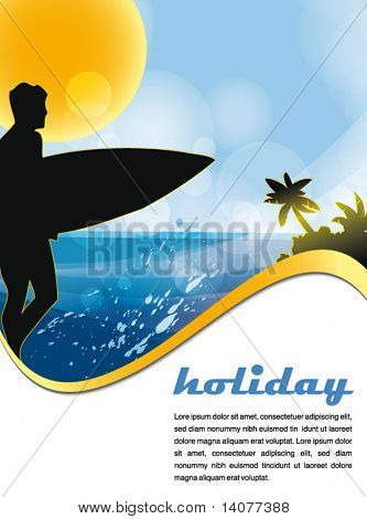 summer tropic holiday poster