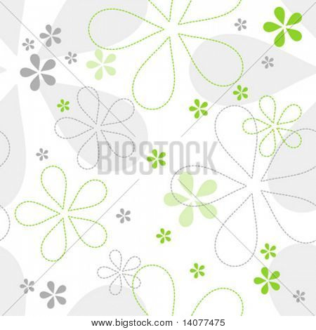 Seamless floral Vector Muster