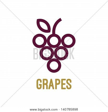Abstract grapes logo template. Grapes icon. Purple grapes