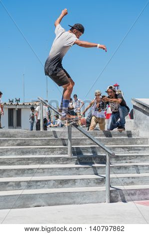 Pedro Machado During The Dc Skate Challenge