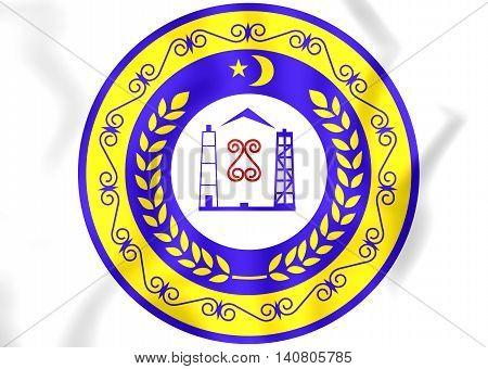 Chechen Republic Coat Of Arms, Russia.  3D Illustration.