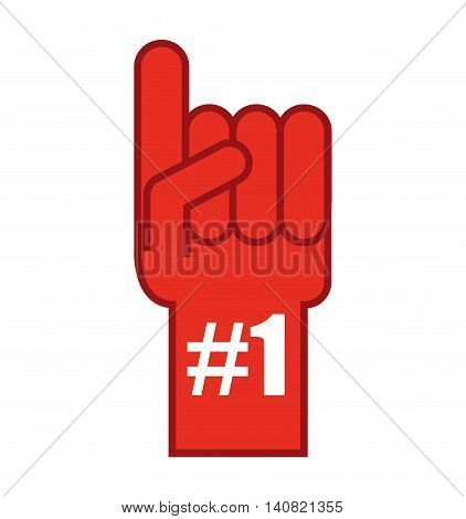 glove first number one vector illustration design