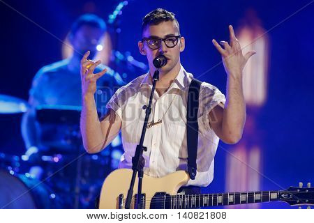 NEW  YORK-NOV 13: Jack Antonoff of Bleachers performs on stage during VH1's 2nd Annual 'You Oughta Know Live In Concert' 2014 at Hammerstein Ballroom on November 13, 2014 in New York City.