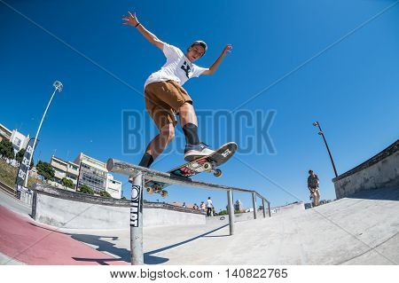 Gustavo Ribeiro During The Dc Skate Challenge