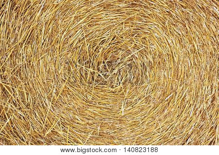 The swirl haystack texture background in the daylight