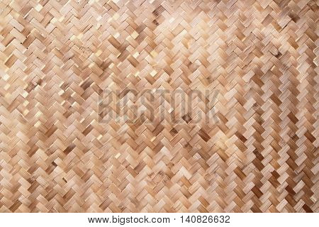 Brown bamboo basket weave texture or pattern