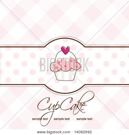Cupcake - Card template with copy