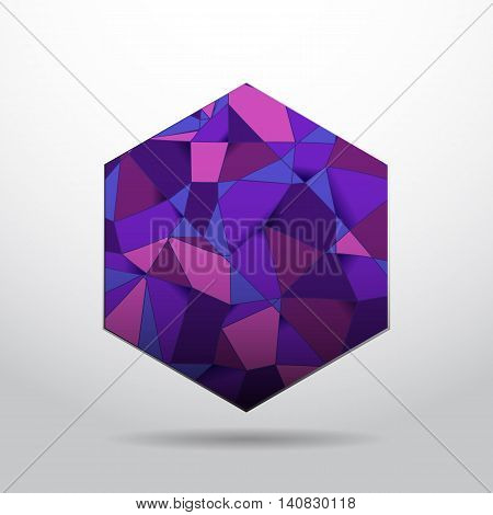 Purple polygon material design background stock vector