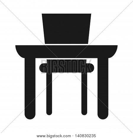 dinning room silhouette icon vector illustration design