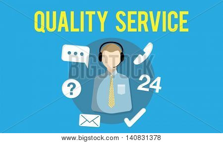 Quality Service Assistance Care Customer Concept