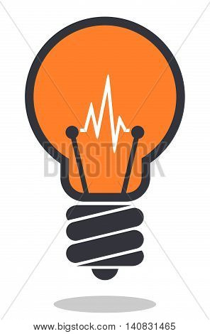 Light bulb icon isolated on white background. Lamp icon