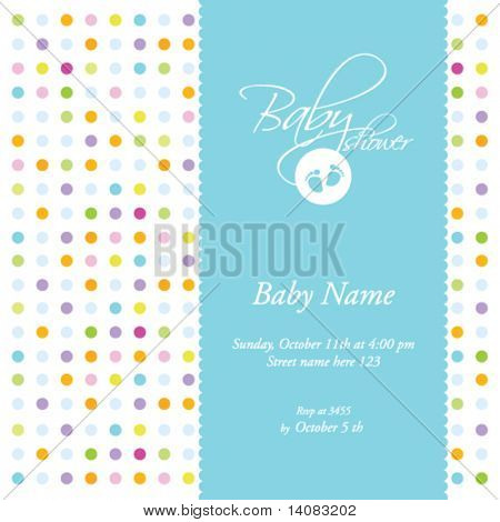 Baby shower - card template