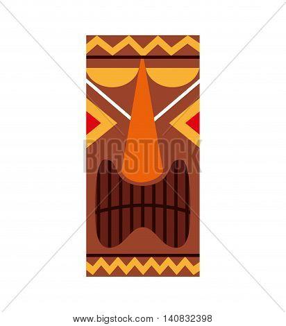 hawaiian tiki culture icon vector illustration design