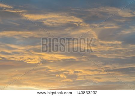 Beautiful Sunset Above The Evening Cloud.