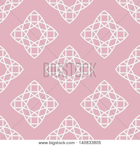 Vector seamless pattern in trendy linear style. Minimal geometric texture