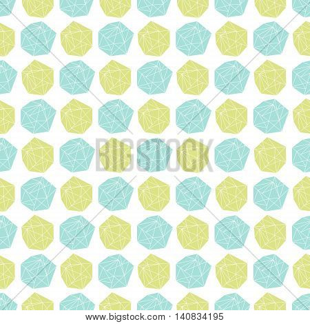 Vector seamless repeat pattern with polygonal shapes
