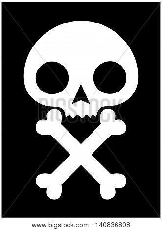 skull icon black background skull and cross bones symbol human skull