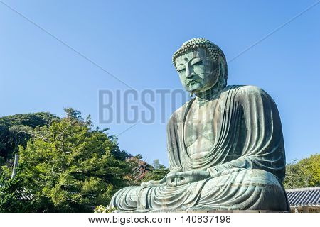 Daibutsu The Great Buddha in Kamakura Kotokuin Temple Japan.