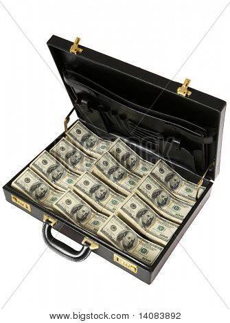 Briefcase full of One Hundred Dollar  Bills