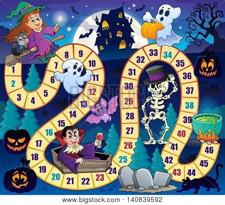 Board game with Halloween theme 1 - eps10 vector illustration.