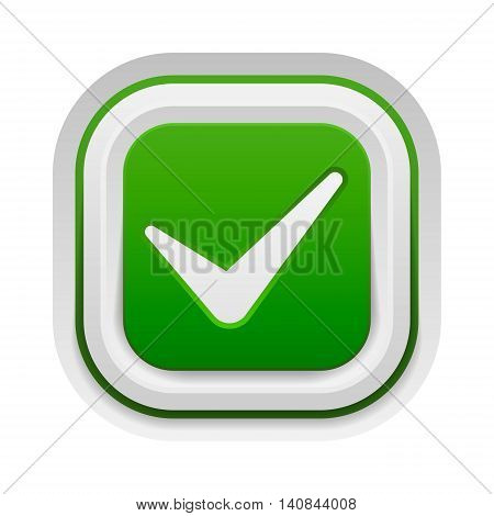 Check box vector icon button isolated. Check icon mark sign choice yes symbol. Correct design check icon mark right agreement voting form. Button question choose success graphic.