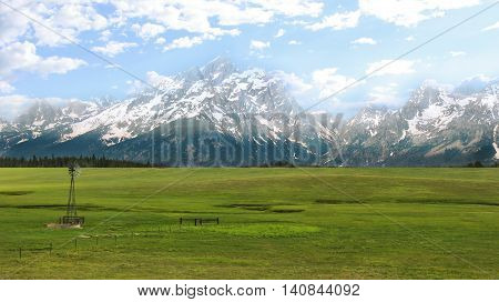 Grand Teton National Park is a popular destination for mountaineering hiking backcountry camping and fishing.