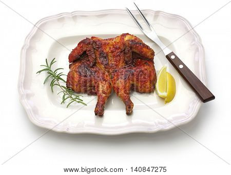 spicy piri piri chicken, portuguese cuisine