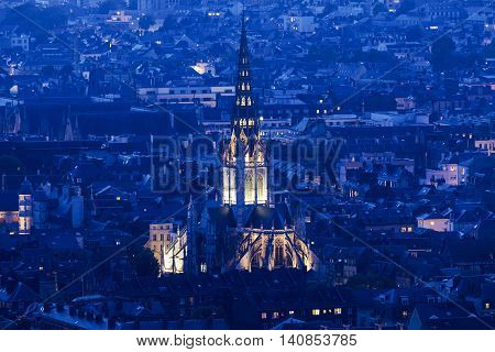 Abbey church of Saint-Ouen in Rouen. Rouen Normandy France