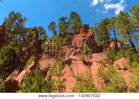 Foothpath Of Ocher At Roussillon Village, France