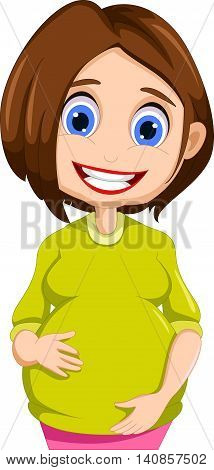 funny pregnant mother cartoon for you design