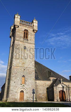 Church in Saint-Pierre-Eglise. Saint-Pierre Eglise Normandy France.