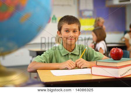 Elementary school student portrait