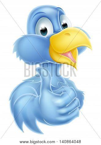 Cartoon Bluebird Mascot