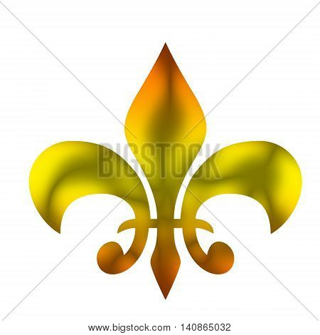 A heraldic Lily on a white background .
