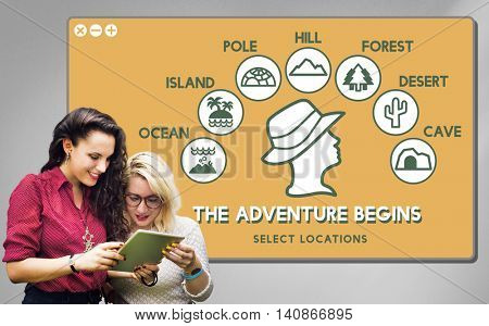 The Adventure Begins Travel Journey Experience Concept