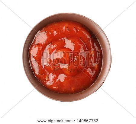 Tomato sauce isolated on white