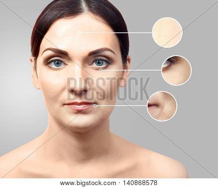 Beautiful middle aged woman close up