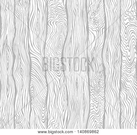 Hand drawn seamless pattern of wood texture