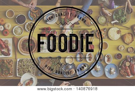 Foodie Eating Delicious Party Celebration Concept