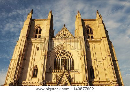 Nantes Cathedral in Nantes. Nantes Pays de la Loire France.