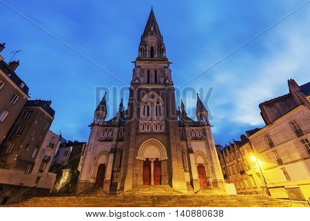 St Nicholas Church in Nantes. Nantes Pays de la Loire France